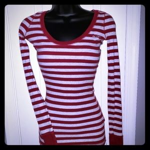 Tops - Hollister Striped Long Sleeve